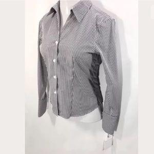 New CALVIN KLEIN Womens Shirt Size 6 / Gray stripe